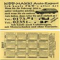 Kipp Makki Auto-Export
